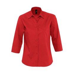 f35f321139f Рубашка женская с рукавом 3 4 ETERNITY красная